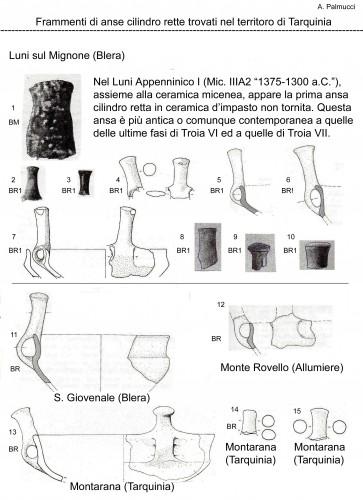Tarquinia, Appenninica, Luni sul Mognone, Monte Rovello, Montarana, Troia, Blera